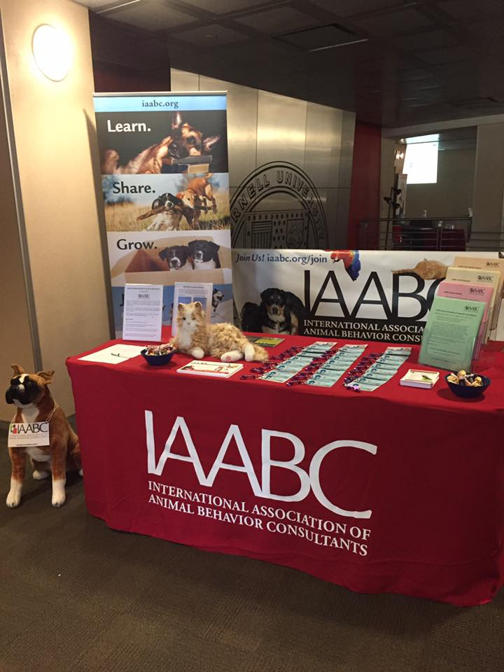 IAABC booth at animal behavior conference